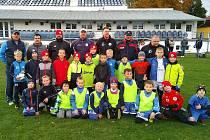 Společný trénink fotbalové mládeže SK Kladno, Slovanu Velvary a Baníku Švermov