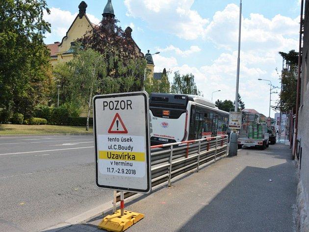 Rekonstrukce ulice Cyrila Boudy v Kladně přispěje ke zvýšení bezpečnosti.