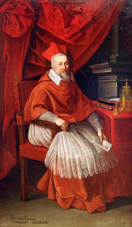 Anonymní malíř - Kardinál František zDietrichsteina (Mikulov, Regionální muzeum), Morava - 18. století, olej na plátně.