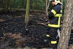 K požáru vyrazila jedna jednotka profesionálních hasičů a tři jednotky dobrovolníků.