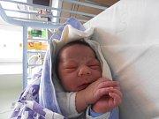 JUSTIN MIZER, SLANÝ. Narodil se 5. dubna 2017. Váha 3,49 kg, míra 50 cm. Rodiče jsou Jana Girgová a Jiří Mizer (porodnice Slaný).