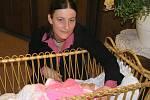 Antónia Križovenská s dcerou Alžbetou, prvním miminkem roku 2008 v ČR.