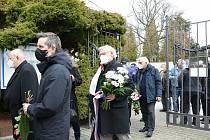 Z posledního rozloučení s Marií Šupíkovou v kapli Kladenských hřbitovů.
