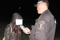 Pouze v jednom případě strážníci zjistili požití alkoholu