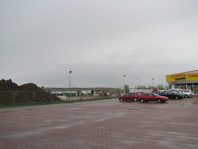 Chystané obchodní cetrum v Kladně-Kročehlavech