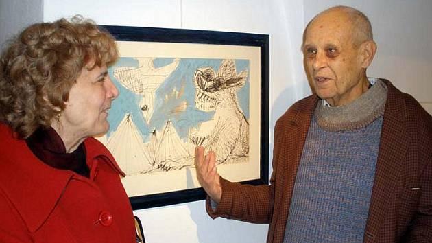 Malíř Tomáš Vosolsobě s manželkou Ritou.