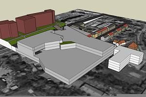 Model, který nechali vytvořit nespokojení obyvatelé centra na základě oficiálních půdorysů.