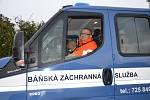 Odhalení památníku obětem důlního neštěstí v Tuchlovicích. Báňská záchranná služba.