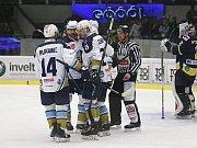Hokejová Chance liga: Rytíři Kladno - HC Slovan Ústí nad Labem 3:2. Jaromír Jágr po více než roce hrál soutěžní zápas v Kladně.