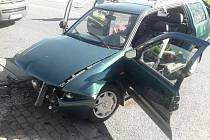 Z dopravní nehody u Lán 21. dubna 2020.
