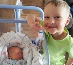 LUKÁŠEK JANOUŠEK, SLANÝ. Narodil se 7. dubna 2017. Váha 3,12 kg, míra 51 cm. Rodičem je Michaela Šlégrová (porodnice Slaný).