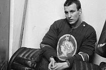 Slavný kladenský hokejový brankář Miroslav Termer.