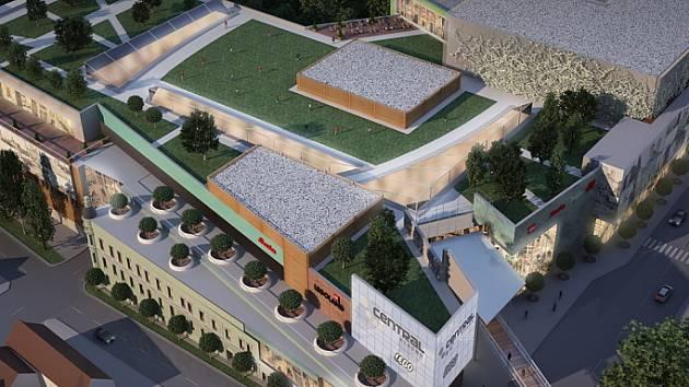 Projekt obchodního komplexu Central Kladno architektonicky ztvárnila firma Chapman Taylor.