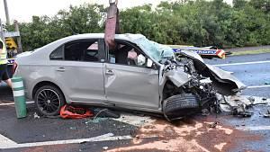Vážná dopravní nehoda u Třebíze 3. srpna 2021