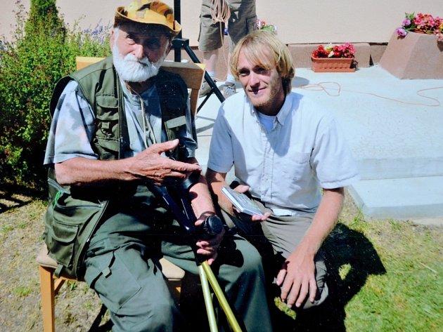 Hugo Pavel s populárním rybářem Jakubem Vágnerem
