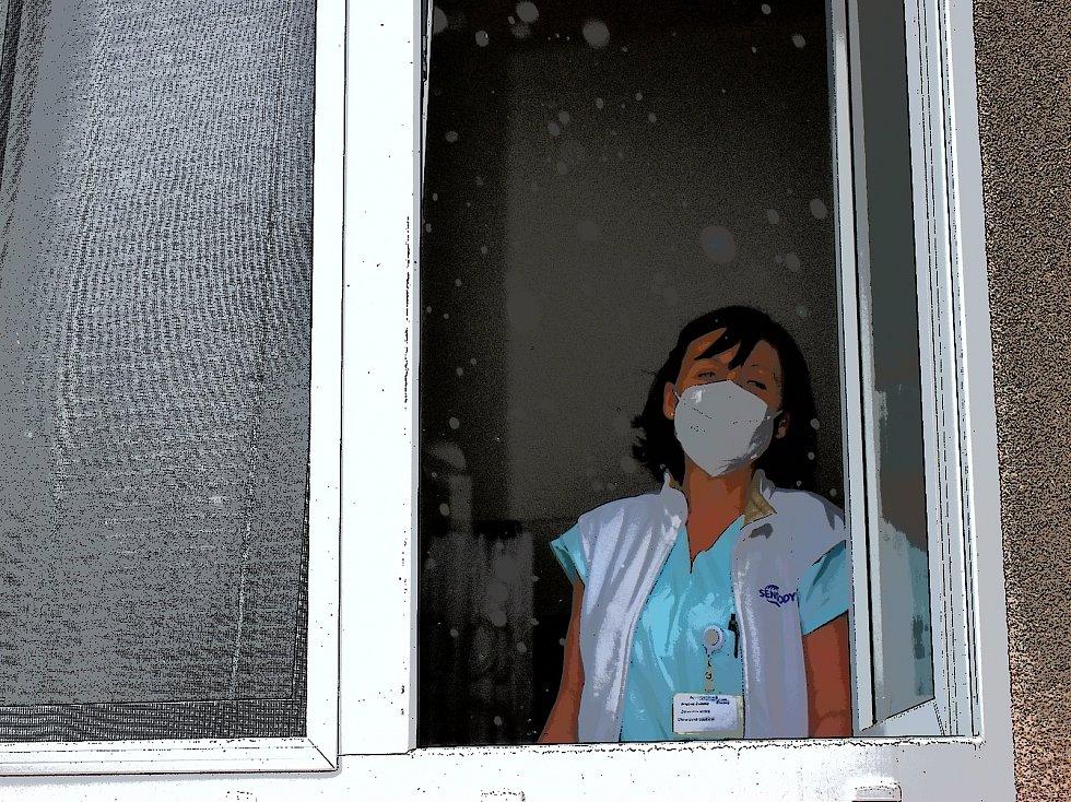 Zdravotní sestra Zuzana z nemocnice ve Slaném.
