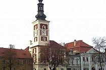 Výstava o Karlu IV. je k vidění v galerii Dobeška. Přízemí staré slánské radnice.