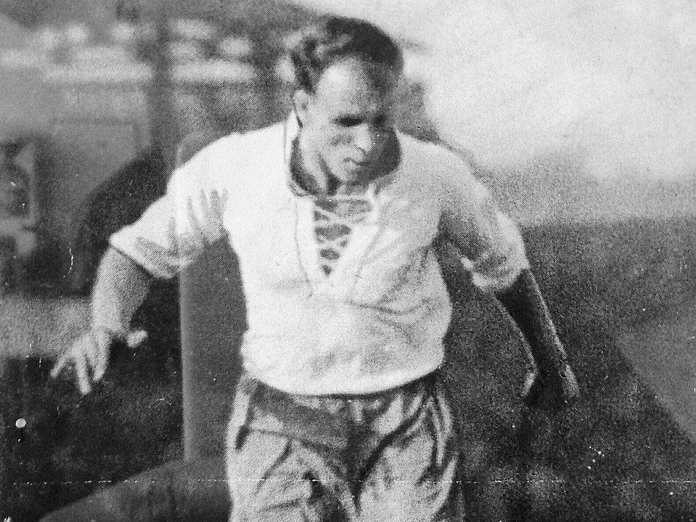 Legendární útočník Kladna František Kloz.