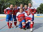 Slavnostní otevření zrekonstruované hokejbalové arény Kladno. Mistryně světa v hokejbalu si v Kladně zahrály také.