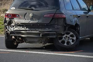 Dopravní nehoda 4. března 2020 u Slaného.