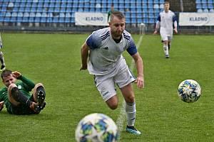 Jiří Růžička hrál tentokrát netradičně na kraji obrany, ale zvládl to parádně.