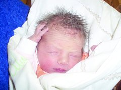Johanna Krausová, Slaný. Narodila se 17.12.2013. Váha 2,7 kg, míra 51 cm. Rodiče jsou Ivana Čápová a Robert Kraus (porodnice Slaný).