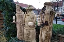 Betlém s Třemi králi na Masarykově náměstí ve Slaném.