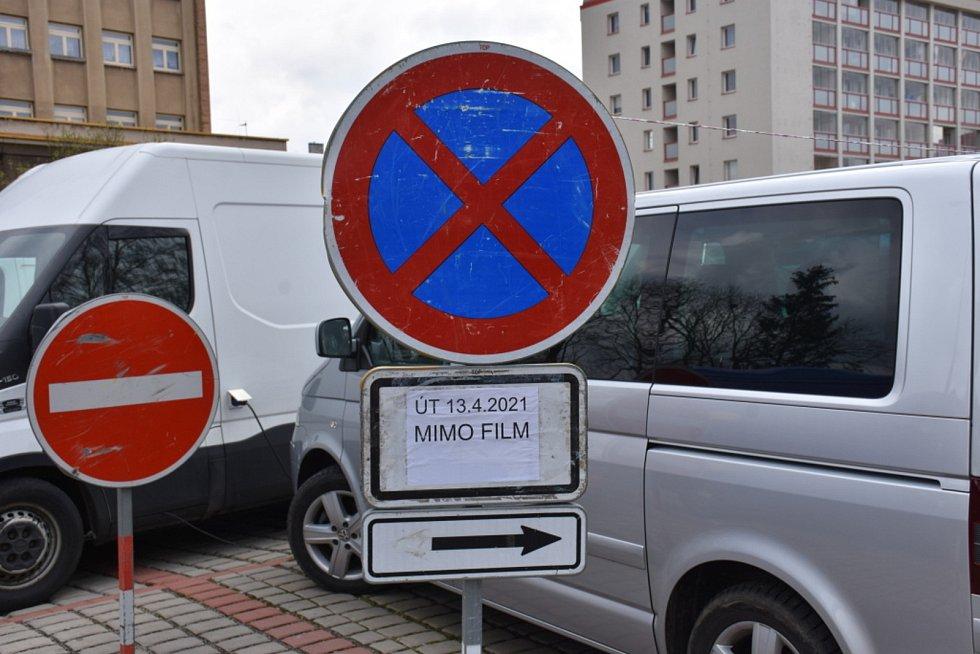 Natáčení v Kladně.