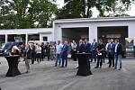 Slavnostní otevření modernizované čistírny odpadních vod ve Slaném Blahoticích.