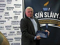 Otevření Síně slávy kladenského hokeje. Lubomír Bauer