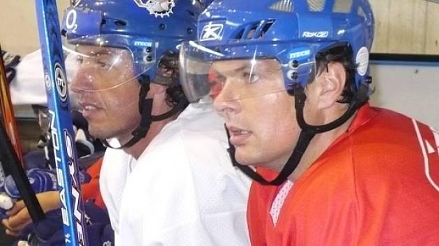 Dnešní zápas proti Liberci si zahrají také Radek Gardoň (vlevo) a Tomáš Horna.