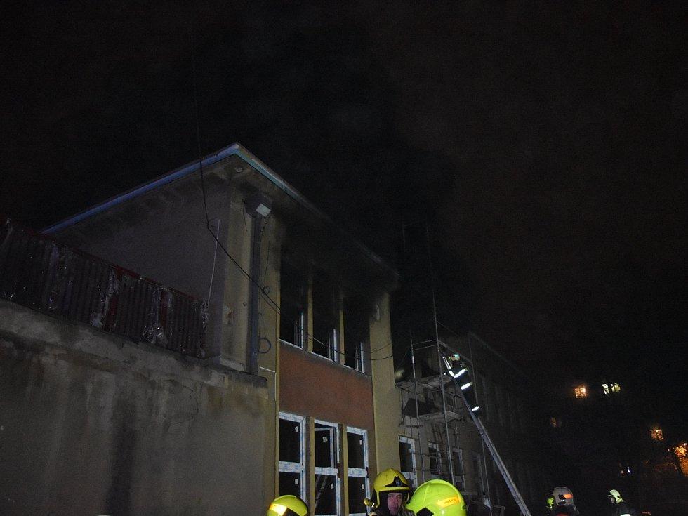Požár v mateřské škole v Kladně.