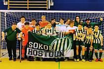 Vítězný tým dorostenců Sokola Hostouň na turnaji v Sasku.