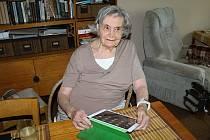 Setkání Kladenského deníku s jednadevadesátiletou Jaroslavou Skleničkovou doma v Lidicích.