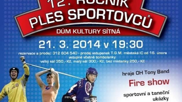 Ples sportovců v Kladně.