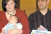 Jakub Vinkl s rodiči Milanem a Květuší.