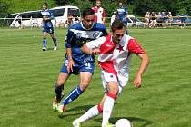 Dušan Holeček (vlevo) vstřelil Plzni jediný kladenský gól.