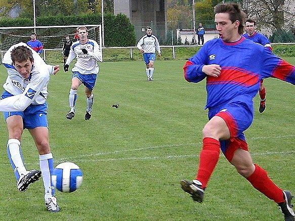 Berounský Pavel Choc ránu jana Snovického nezastavil, ale vranský střelec se neprosadil. Jeho tým i tak vyhrál 4:1.