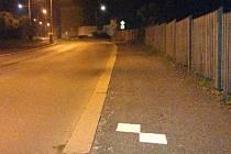 Čtverce se ve Slaném nacházely dokonce na chodníku.