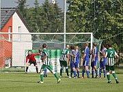 """Sokol Hostouň """"B"""" - FC Čechie Velká Dobrá 0:2 (0:1), I. B. tř. sk. A,  10. 6. 2018"""