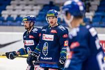 Šlágr hokejové Chance ligy Kladno - Jihlava okořenil návrat Jaromíra Jágra na led. Ondřej Mikliš