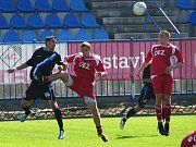 SK Kladno - Letohrad 1:1, vlevo Zdeněk Rada