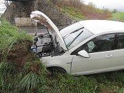 Dopravní nehoda v Běšinech.