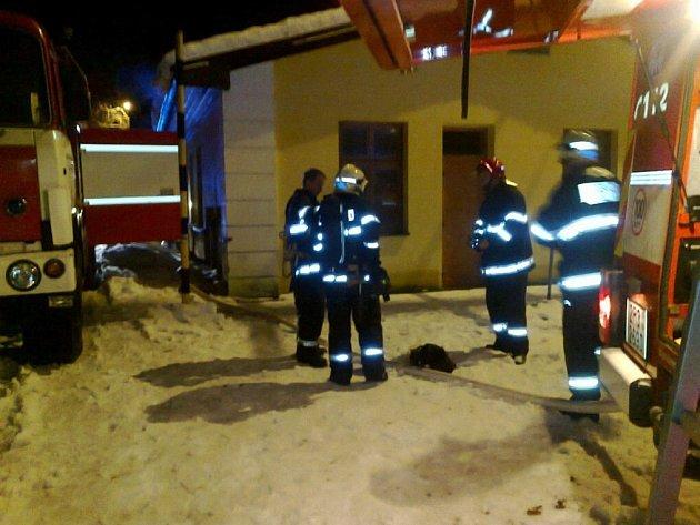 Požár restaurace na Špičáku