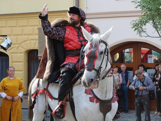 V Kašperských Horách se o víkendu konaly slavnosti Šumavské Kašperské Hory v dobách Karla IV.