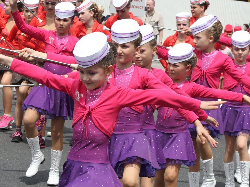 Zemské finále mažoretek v Klatovech 2016.