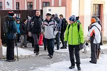 Sedmdesátku turistů neodradil od pochodu z Plánice do Klatov ani mráz