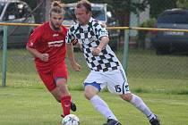 Zápas krajského fotbalového přeboru mužů Svéradice (černobílí) - Rokycany B.