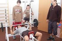 Nová posilovna a tělocvična klatovského gymnázia