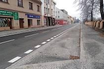 Ulice T. G. Masaryka v Sušici po rekonstrukci.